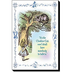 Tenniel 'Alice in Wonderland: It's the Cheshire Cat' Canvas Art