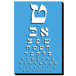 Yiddish Eye Chart