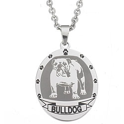 Stainless Steel Bulldog Necklace