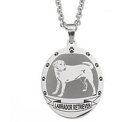 Stainless Steel Labrador Retriever Necklace