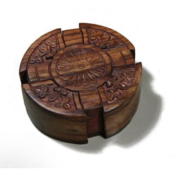 Wooden Fair Trade Cross Puzzle Box (India)