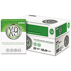 Boise X-9 Copy and Laser Paper (Case of 5,000 Sheets)