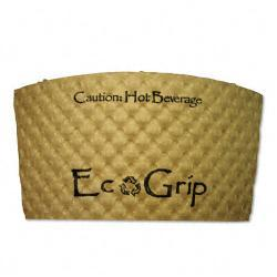 EcoGrips Biodegradable Hot Cup Sleeves (Case of 1300)