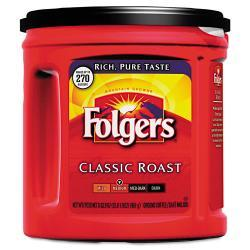 Folgers Ground Regular Coffee, 33.9-oz Can (Pack of 6)