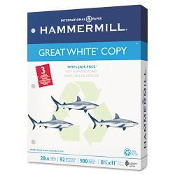 Hammermill 20lb Letter Great White 3-Hole Recycled Copy Paper (Case of 5,000)