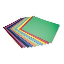 Pacon Assorted Colors Peacock Four-Ply Railroad Board (Case of 100)