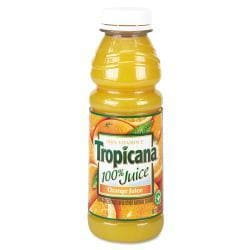 Tropicana 100-percent Orange Juice 10 oz Bottle (Case of 24)