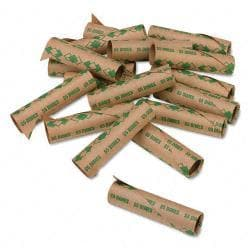 PM Preformed Paper Tubular Dime Coin Wrappers (Case of 1,000)