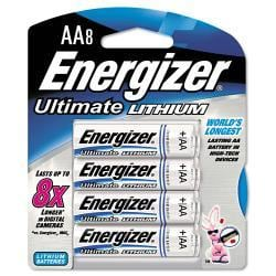 Energizer e Lithium AA Batteries (Pack of 8)