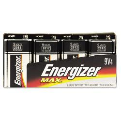 Energizer Alkaline 9V Batteries (Pack of 4)
