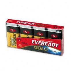 Eveready Gold Alkaline 9V Batteries (Pack of 4)