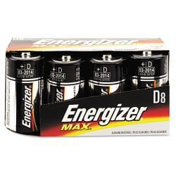 Energizer Alkaline D Batteries (Pack of 8)