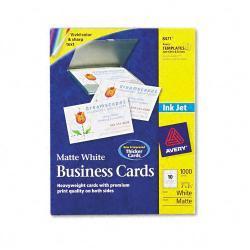 Avery Inkjet Matte Business Cards, 10 Cards per Sheet (Case of 1000)