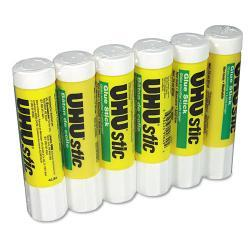 UHU Stic Permanent Clear Application Glue Stick, .74 oz (Pack of 6)