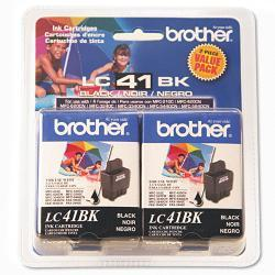 Brother LC41BK2PKS Ink, Black (Pack of 2)
