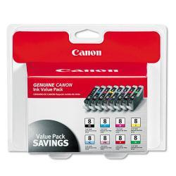 Canon 0620B015 (CLI-8) Ink Tank, Assorted (Pack of 8)