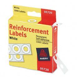 Avery Adhesive Hole Reinforcements, White (Pack of 1000)