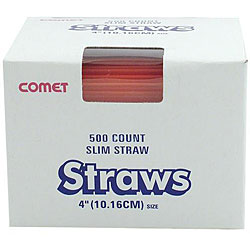 WNA Comet West 4-inch Red straws (Case of 5000)