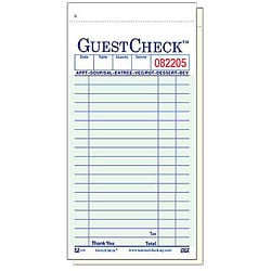 National Checking Company 3.5-in X 7-in Green Guest Checks (Case of 50)