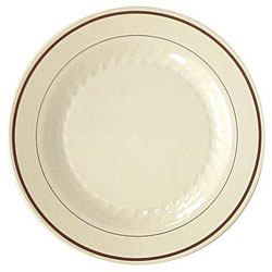 Waddington North America Masterpiece Plastic Plates (Case of 120)