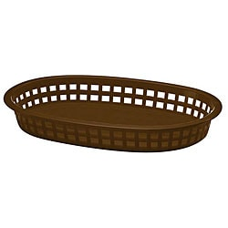 Tablecraft Brown Stackable Basket (Case of 36) 5960304