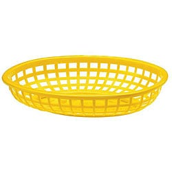 Tablecraft Yellow Stackable Baskets (Case of 36) 5960308