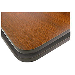 Rectangular 30-in x 42-in Mahogany/Black Tabletop