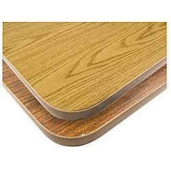 Rectangular 30-in x 48-in Walnut/Oak Tabletop
