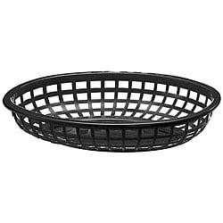 Tablecraft Medium Plastic Oval Baskets (Case of 36) 5960394