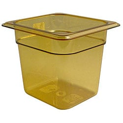 Cambro Amber 6-in Deep High Heat Sixth Size Pan