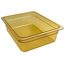 Cambro Half Size 4-in Deep Amber High Heat Pan