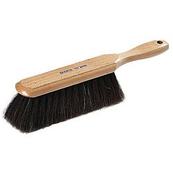 Carlisle Foodservice Wood Counter Brush With Horse Hair & Polyproplene Bristles