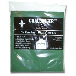 Challenger Hunter Green Adjustable Three Pocket Apron