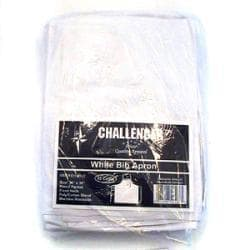 Challenger White Bib Apron (Case of 12)