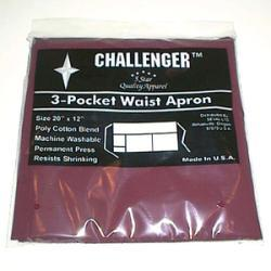 Challenger Burgundy Three Pocket Waist Apron