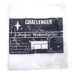 Challenger White Three Pocket Waist Apron