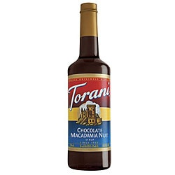 Torani 750ML Torani Chocolate Macadamia Nut Syrup (Pack of 12)