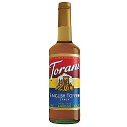 Torani 750ML English Toffee Syrup (Pack of 12)