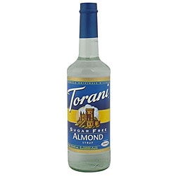 Torani 750ML Torani Sugar Free Almond Syrup (Pack of 12)