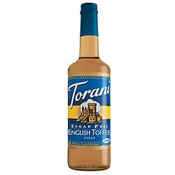 Torani Sugar Free English Toffee Syrup 750ML (Pack of 12)
