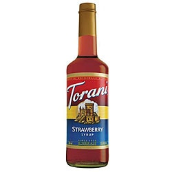 Torani 750-ml Strawberry Syrup (Pack of 12)