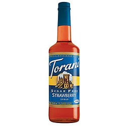 Torani 750-ml Sugar Free Strawberry Syrup (Pack of 12)