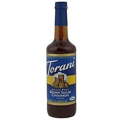 Torani 750 ML Sugar Free Brown Sugar Cinnamon Syrup (Pack of 12)
