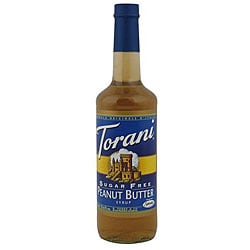 Torani Sugar Free Peanut Butter Syrup 750ML (Pack of 12)