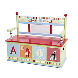 Alphabet Soup Storage Bench