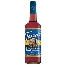 Torani Dairy Friendly Sugar Free Red Raspeberry Syrup 750ML (Pack of 12)