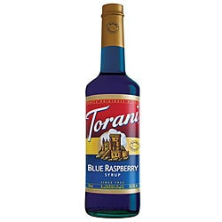 Torani Blue Raspberry Syrup 750ML (Pack of 12)