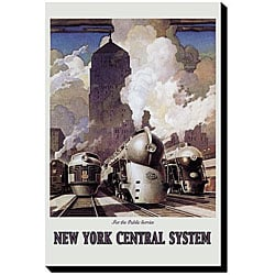 'New York Central System' Giclee Canvas Art