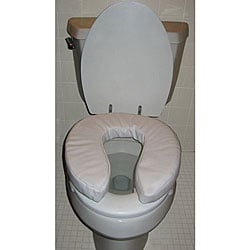 Hudson 15 x 16 x 4 inch Comfort Cushion Toilet Seat Riser (Pack of 2)