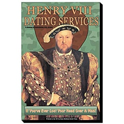 Wilbur Pierce 'Henry VIII Dating Services' Canvas Art